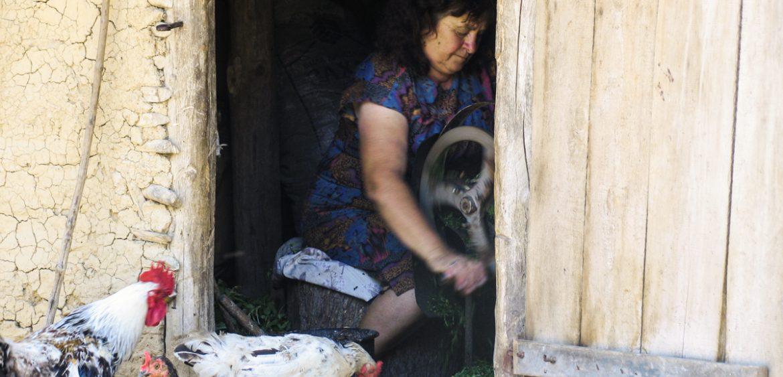 Mariya Boyanova Fotografie Foto-Essay aus einem Balkandorf Alltag Vögel Oma
