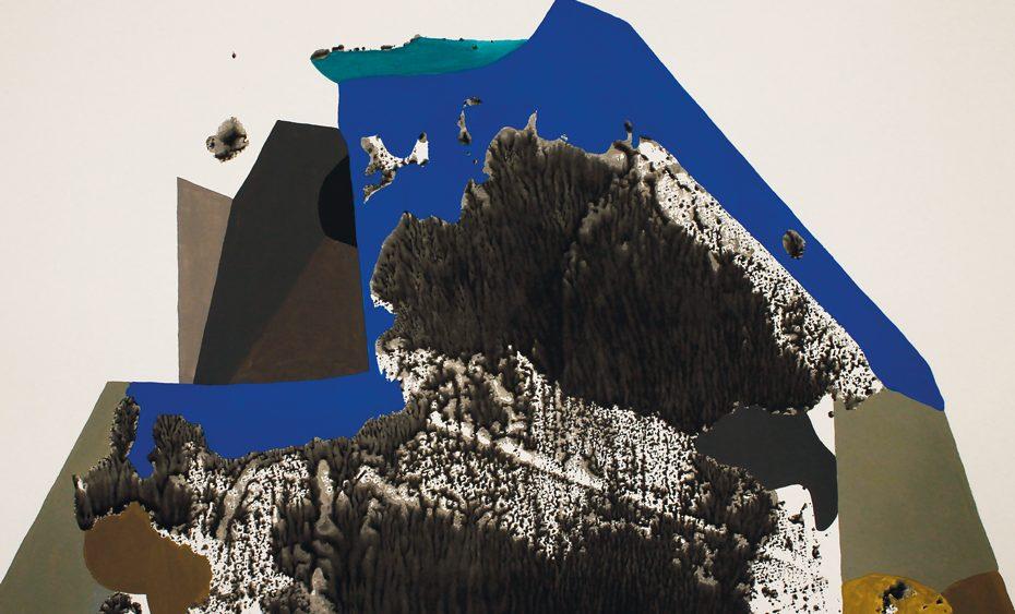 Mariya Boyanova Malerei Collage Monolith Kristall