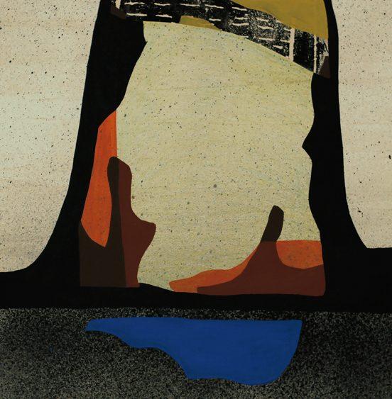 Mariya Boyanova Malerei Collage Wüste 35x50