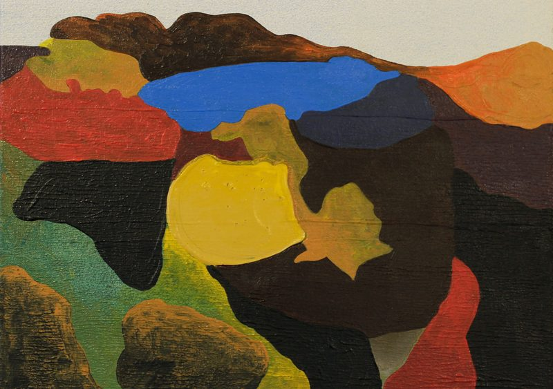 Mariya Boyanova Malerei III Landschaft acryl leinwand 30x30