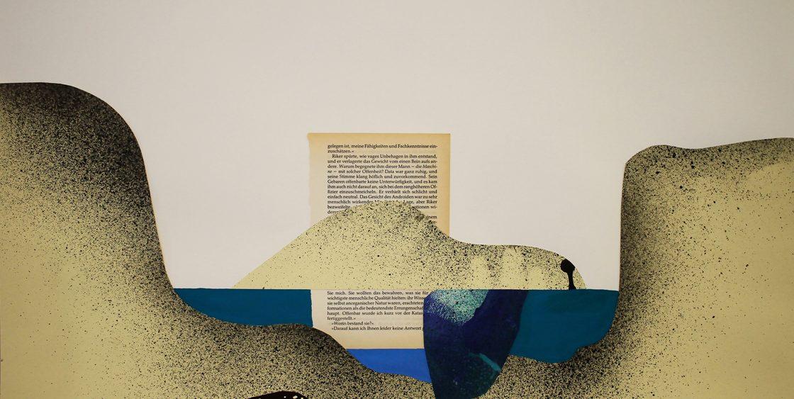 Mariya Boyanova Malerei acryl collage papier 50x70
