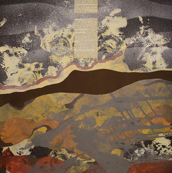 Mariya Boyanova Malerei acryl collage papier schwarz 70x100