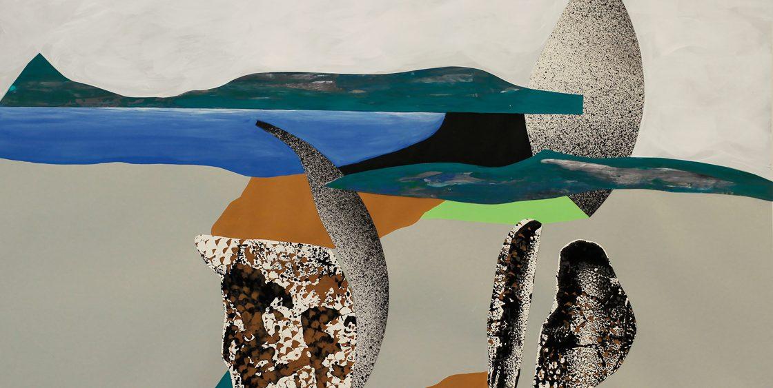 Mariya Boyanova Malerei collage acryl paper 50x70